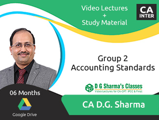 CA Inter Group 2 Accounting Standards Video Lectures by CA DG Sharma (Download, 6 Months)