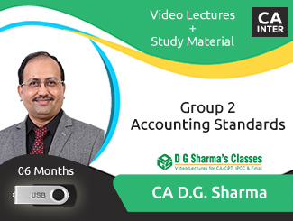 CA Inter Group 2 Accounting Standards Video Lectures by CA DG Sharma (USB, 6 Months)