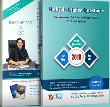 CA Inter Income Tax (MCQs) Book (Part A) by CA Pooja