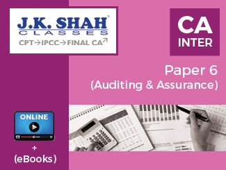 CA Inter Paper 6 - Auditing and Assurance Online Classes