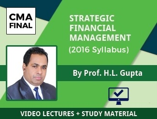 CMA Final SFM Video Lectures by Prof HL Gupta (2016 Syllabus) (Online)