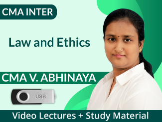 CMA Inter Law and Ethics Video Lectures by CMA V Abhinaya (USB)