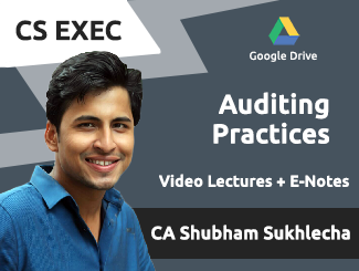CS Executive Audit Video Lectures by CA Shubham Sukhlecha (Google