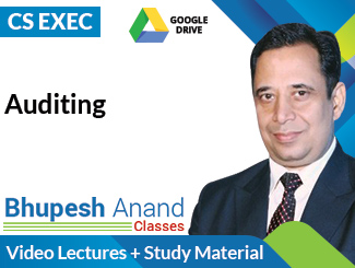 CS Executive Auditing Video Lectures by CA Bhupesh Anand (Download)