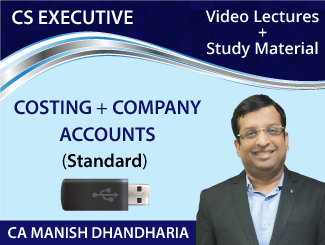 CS Executive (Costing + Company Accounts) Combo Video Lectures by CA Manish Raj Dhandharia (Standard) (USB)