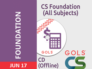 CS Foundation Registration Online June 2018 & Dec 2018