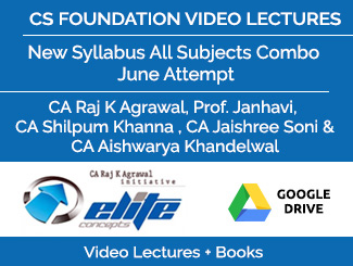 CS Foundation New Syllabus All Subjects Combo Video Lectures June Attempt (Download + Books)
