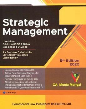 Commercials Strategic Management Book for CA Inter by CA Meeta Mangal