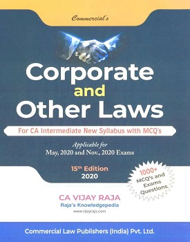 Corporate & Other Laws Book for CA Inter by CA Vijay Raja By