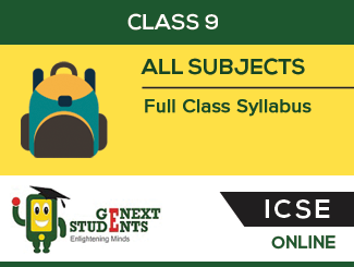 ICSE Board : Class 9 Full Class Syllabus By Genext Students