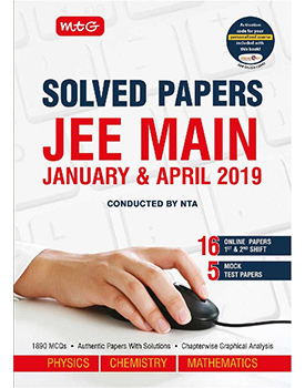 JEE Main Solved Papers Jan & Apr 2019 PCM Book by MTG Learning