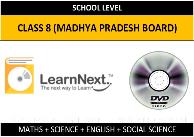 Learnnext Class 8 Maths, Science, English and Social Science (Madhya Pradesh Board)