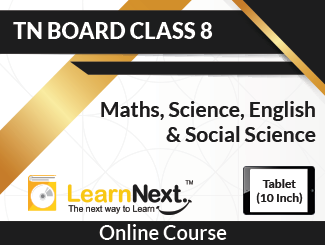Learnnext Tamilnadu Board Class 8 Maths, Science, English & Social Science Online Course in Tablet (10 Inch)