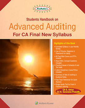 Padhukas Students Handbook on Advanced Auditing for CA Final (New Syllabus) by G Sekar, B Saravana Prasath