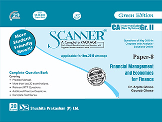 Scanner CA Inter Group 2 (New Syllabus) Paper-8 Financial Management and Economics for Finance