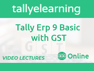 Tally ERP 9 Basic with GST Online Video Lecture By Tally eLearning